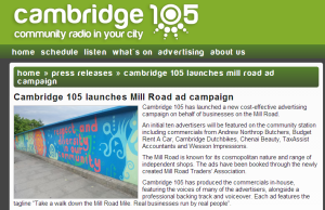 Cambridge 105 launches dedicated Mill Road monthly show