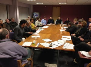 The first meeting of the Mill Road Traders' Association, February 2013.