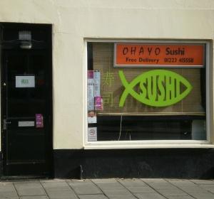 Ohayo Sushi, 139 Mill Road, Cambridge, CB1 3AA