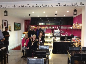 Mayor's visit to the newly refurbished restaurant