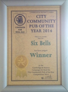 Community Pub of the Year 2014