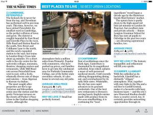 Listed in the Sunday Times - Petersfield as one of the best urban locations.
